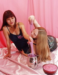 Thai girl has some non nude lubricious joy with her fetish girlfriend