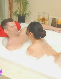 Amusing Asian fatty Kiwi Ling massages beaver-cleaver and seize nutsack