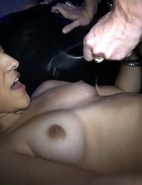Nasty fat hooter latinas arefucking and huge-boobed at hump party