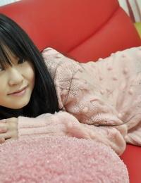 Asian teen Syoko Narita peels off her subjugation and has some hookup fucktoys joy