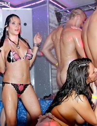 Tough whores having joy with well-hung guys at the hookup party