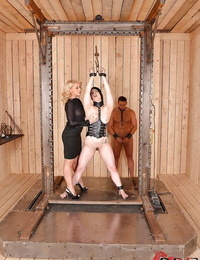 Kathia Nobili and Lucia Enjoy are completely insatiable and mind-blowing BDSM fucksluts