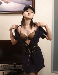 Asian cuttie Alexa does sloppy dancing and seductive make-out