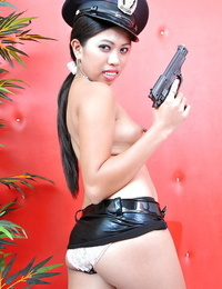 Promiscuous Jenny dresses up as a cop while displaying off her horny side