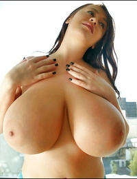 European undergarments model with fat knockers Leanne Crow showcases off