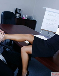 Asian Mummy Asa Akira goes wild on cock while alone with her manager