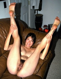 Oriental unexperienced Amanda extracting hairy pits and vagina while disrobing