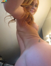 Natural redhead Alex Tanner hooks up with Ryan Madison after bikini removal
