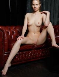 Teen secretary Carolina Sampaio tries her luck at posing her molten body in nude
