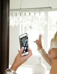 Lovely teenage ash-blonde Tasha Reign is making some self shots on webcam