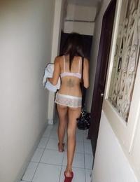 Thin Thai chick fucks a sex tourist sans a condom fashion in motel room