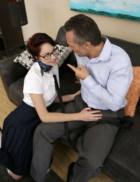 Bad teenage Cadey Mercury is caught smoking and is compelled to nail her stepdad