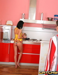 Nasty stud fills her chicks ass with his pulsating dick - part 261