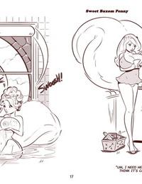 ZaftigBunnyPress Sweet Buxom Penny Cartoons