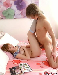 Redhead Euro teenage milks cock in socks before gonzo vaginal sex
