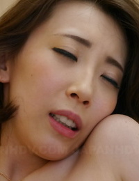 Asian housewife Aya Kisaki gets her pinkish cooter packed with a creampie by a thug
