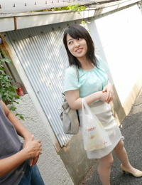 Cool Japanese housewife Kaoru Miyashiro gets grabbed by her tits by a stranger
