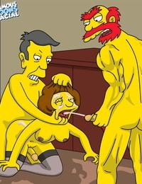 The Simpsons- Edna Krabappel Screwed Hard- Willie and Skinner