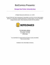 Stranger than Fiction – University Daze 1