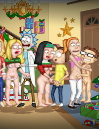 Evgenmahlov- Christmas Surprise American Dad, Rick and Morty