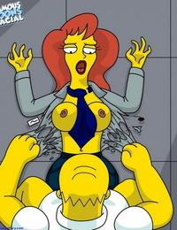 Homer Fucks Assistant Mindy Simmons