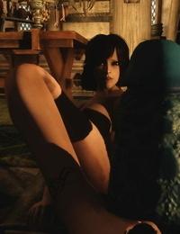 Skyrim Huge Dino Shaft and pretty Lady sos - part 3
