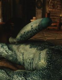 Skyrim Big Dino Shaft and pretty Lady sos - part 4