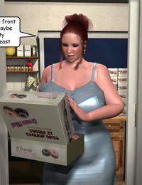 3Darlings Model Nadia gobble Donuts - part 2