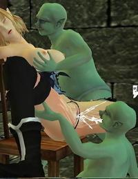 高傲女魔法师被哥布林凌辱侵犯 第一季