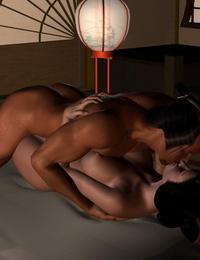Artist - Kunimasa 3D - Traditional Japanese Postures - part 2
