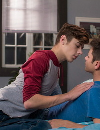 Twink joey mills wakes his fellow wyatt walker with some happy - part 602