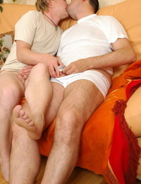 Horny gay makes passes at his pal big-chested his hard-on and taking - part 114