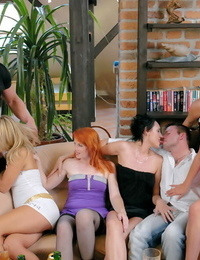 Bisexual orgy with molten women and bisexual men at bimaxx - part 531