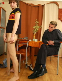 Steamy sissy guy fitting on dress and making chap ready to plumb - part 345