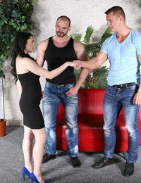 Horny babe and 2 boy-hole studs in mmf 3way from bimaxx - part 634