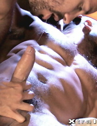 All five studs in this orgy movie engage in an impressive display of huge shaft sucking - part 998