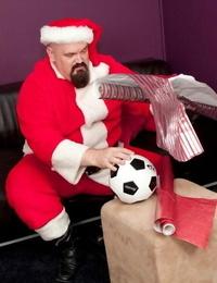 Santa slaps naughty endowed - part 439