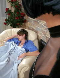 Heated sissy in an evening gown wakes up a dude with a blowjob an - part 5