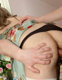 Nasty sissy stud revealing his doll nature mounting on rock har - part 174