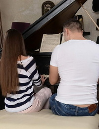 Wonderful college babe Anita Bellini gets screwed doggystyle by her piano teacher