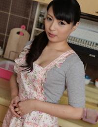 Japanese housewife Kokona Sakurai gets orally pleased and creampied