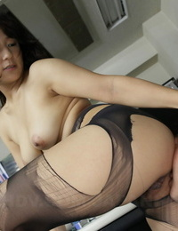 Asian Mummy Chiharu Nakai sits on her colleagues face & gets her holes licked