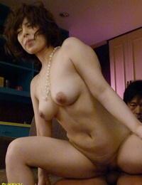 Big-titted Japanese wifey Riris Ayaka deepthroats 2 dicks at once & gets jammed deep